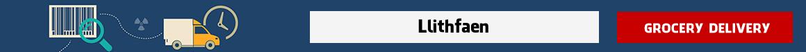 order groceries online Llithfaen